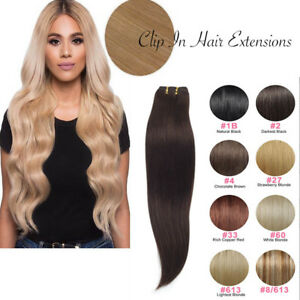 7-Bandes-Extensions-a-Clips-Cheveux-Naturels-Raide-Remy-Human-Hair-Extension-FR