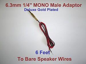 6 3mm 1 4 male mono adaptor jack to speaker wire receiver headphone rh ebay com