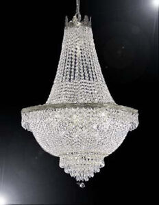 Image is loading French-Empire-Crystal-Chandelier-Chandeliers-Lighting -H24-034- & French Empire Crystal Chandelier Chandeliers Lighting H24