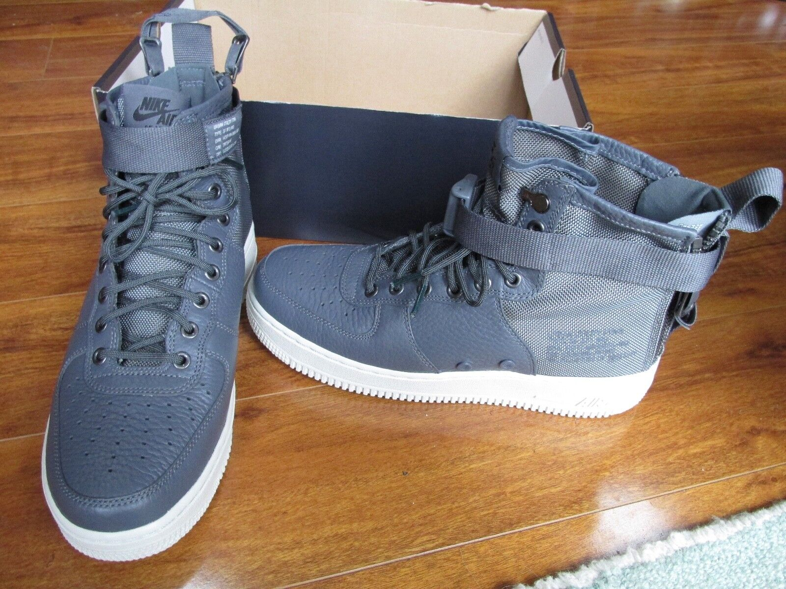 NEW NIKE SF AF1 MID Special Field Boot MENS Size 10 Dark Grey 917753 004 160.