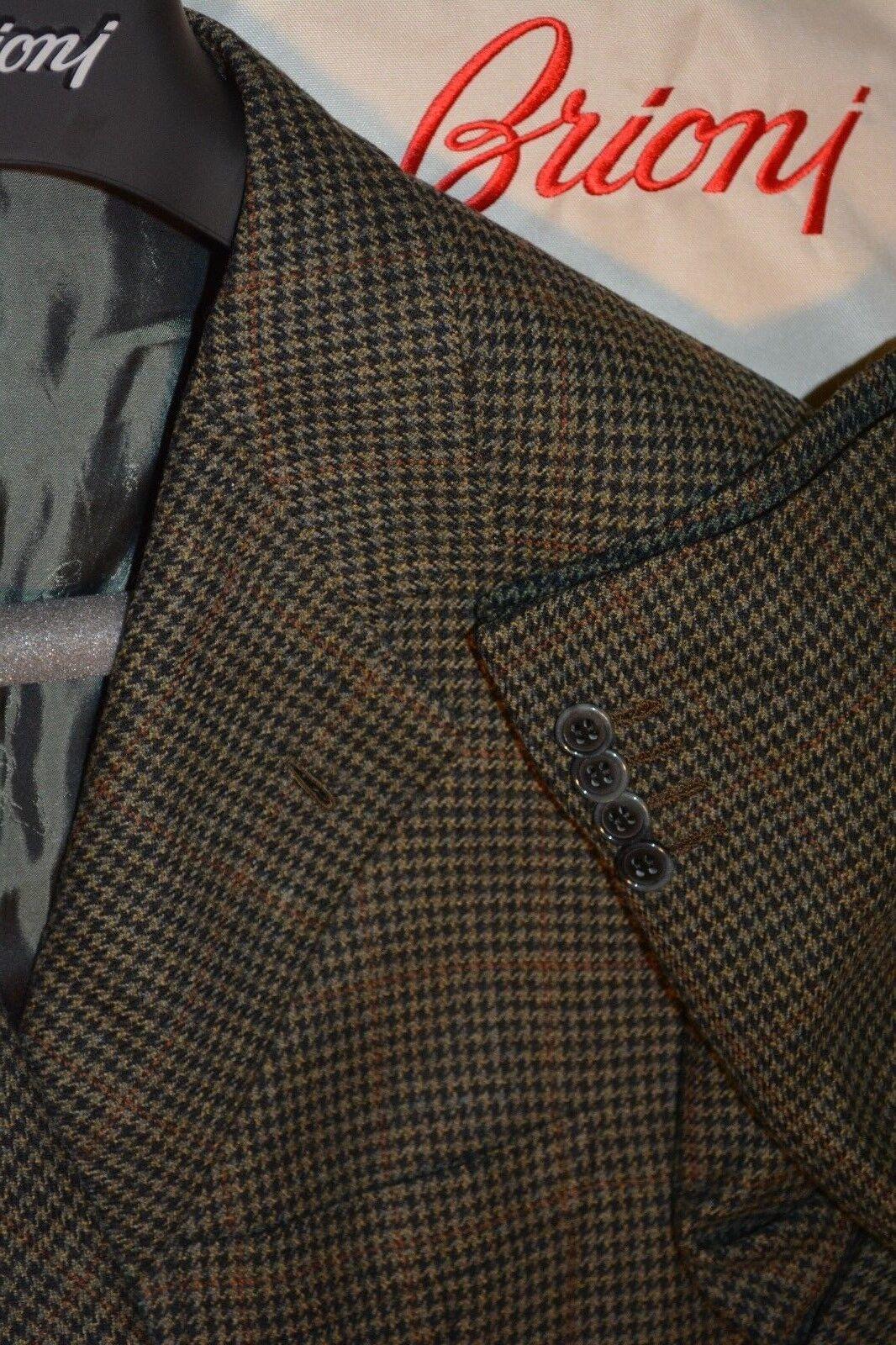 4295 Brioni Wool Cashmere Piuma Houndstooth Sportcoat / Blazer 40R 40 R