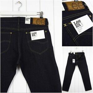 NUEVO-LEE-101z-11-21-3ml-Jeans-seco-RAW-Vaqueros-Corte-recto-regular