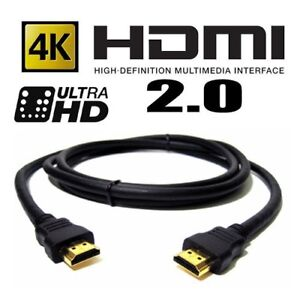 10-FT-HDMI-2-0-4K-3D-Cable-HDTV-High-Speed-Ethernet-ps3-bluray-UHD-FREE-SHIPPING
