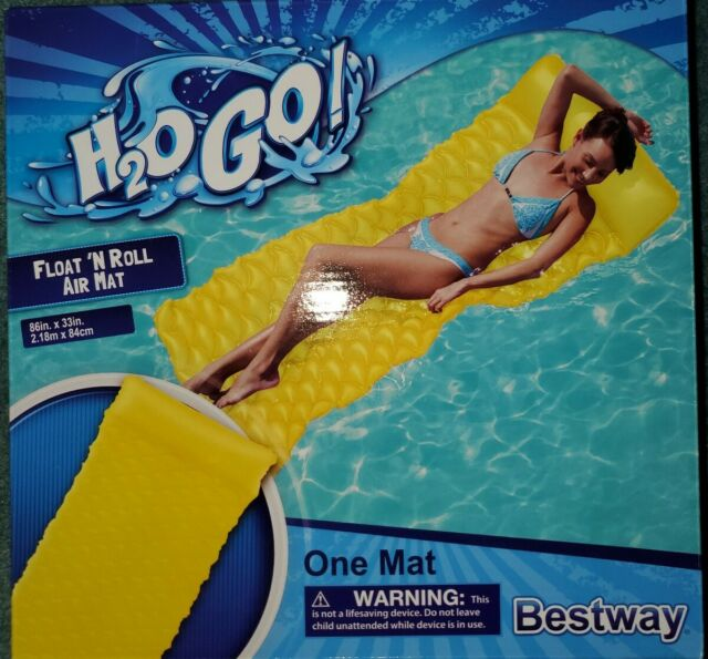 H2o Go Bestway Float N Roll Air Mat 86 by 33 Inch for sale online