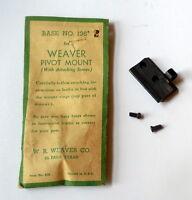 Weaver Pivot Scope Mount/base 136 For Remington, Bsa, Enfield, Weatherby