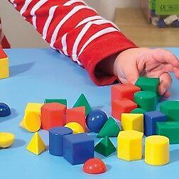 10 Mini Plastic Geosolids 3d Shapes Maths Geometric Solids Volume Montessori