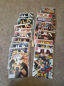Lot-of-21-JLA-93-95-105-112-114-125-amp-Secret-Files-Titans-amp-Wildcats-2004-NM