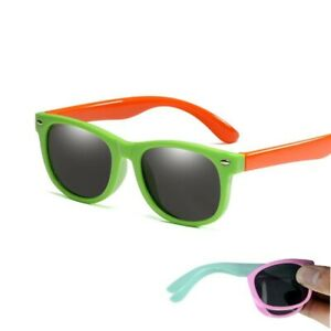27466686985 Image is loading Flexible-Polarized-Kids-Sunglasses-Child-Black-Sun-Glasses-