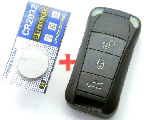 Klapp Schlüssel Gehäuse Porsche Cayenne 955 OEM Qualität Fernbedienung 3 Tasten