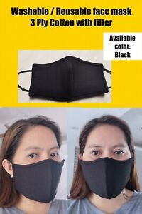 Washable Face Mask With Filter 10 For 50 Free Shipping Ebay