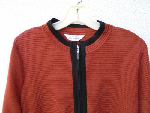 Udelukkende Ribbed Front forkælet Orange Zip Jacket Black RfqRZrx