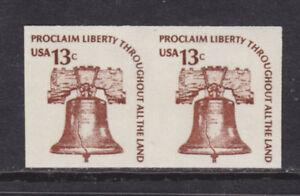 US-Sc-1618b-MNH-1975-13c-Liberty-Bell-imperf-pair-VF