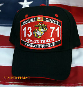 US MARINES MOS 1371 COMBAT ENGINEER HAT FMF PATCH CAP WOWMH PIN UP ...