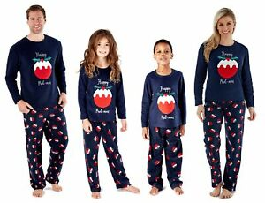 Happy pudmas Famiglia Natale in Pile Pigiama Set ~ Novità Natale Nightwear