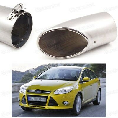 Silver Car Exhaust Muffler Tip Tail Pipe End Trim New for BMW X1 2010-2015 #Z038
