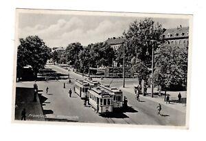 Ak-Brandenburg-Frankfurt-Or-Wilhelmsplatz-Tram-1941
