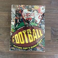 1977 TOPPS FOOTBALL WAX BOX WITH 36 UNOPEN PACK AUTH BY THE BBCE