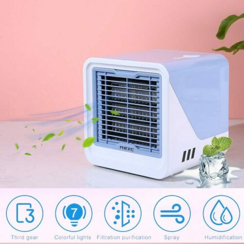 USB Mini Portable Air Conditioner Humidifier Purifier Desktop Air Cooling Fan