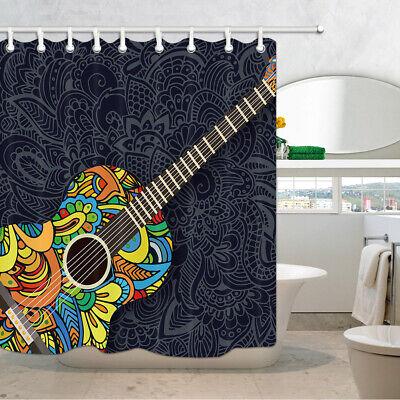 Mandala Hippie Bath Curtains,12PCS Shower Hooks Bohemian Shower Curtain