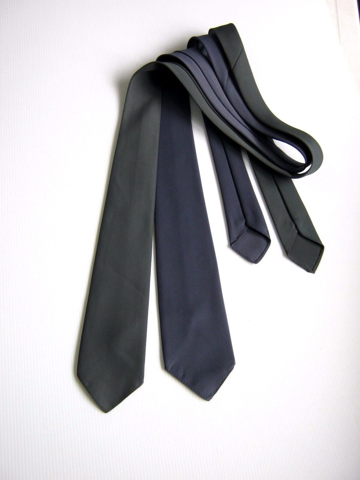 2 X Schlips Krawatten DANIEL MILANO Made IN Italy Vintage 80 Ovp