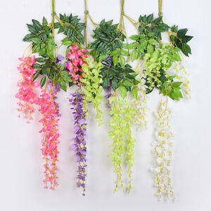 Hanging Fake Artificial Garland Silk Flowers Vine Ivy Home Wedding