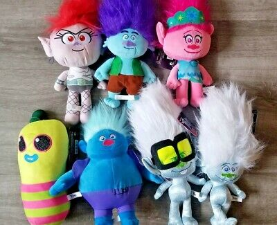 Trolls World Tour Plush Movie 2020 NEW Doll Stuffed Toy 10-12in Poppy and Branch