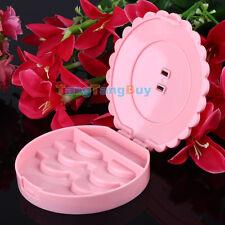 Cute Bow Fairy Ribbon False Eyelash Protect Shape Case Container Pink Box