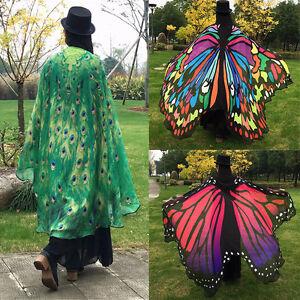 2018-e-Mode-Bunter-Frauen-Schmetterlings-Fluegel-Kap-Schal-Geschenk