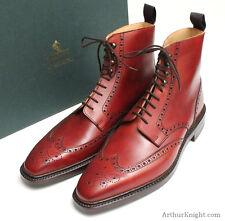 *NEW* CROCKETT & JONES SHOES Mens Ludlow Brogue Boot Oxblood Rubber Sole Size 8