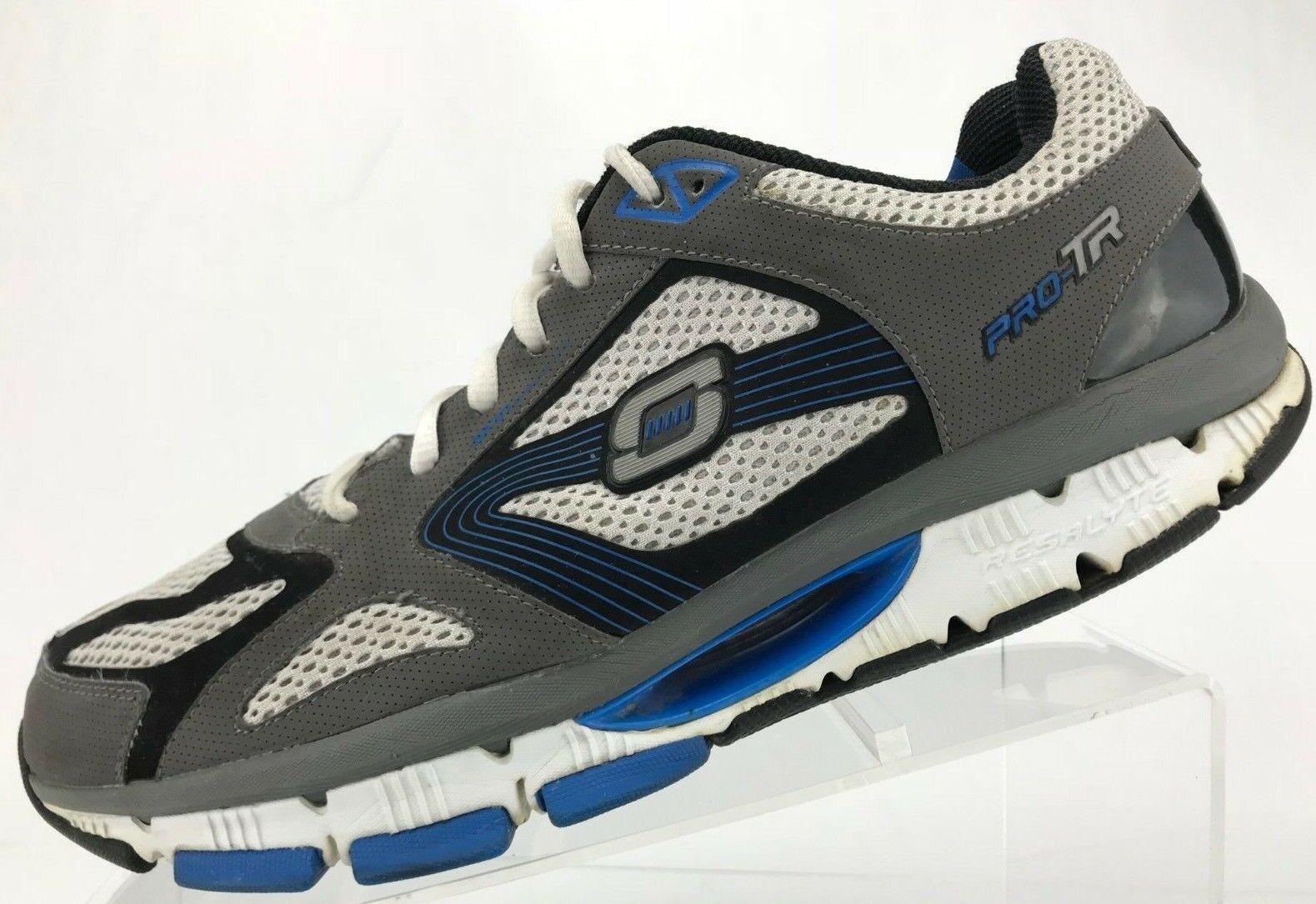 Zapatos de entrenamiento Skechers Resistance Pro TR tenis de correr para hombre 10.5 Azul gris