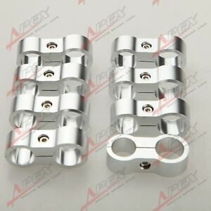 2PCS 6AN AN-6 14.6mm To 8AN AN-8 17mm Stepped Billet Dual Hose Separator