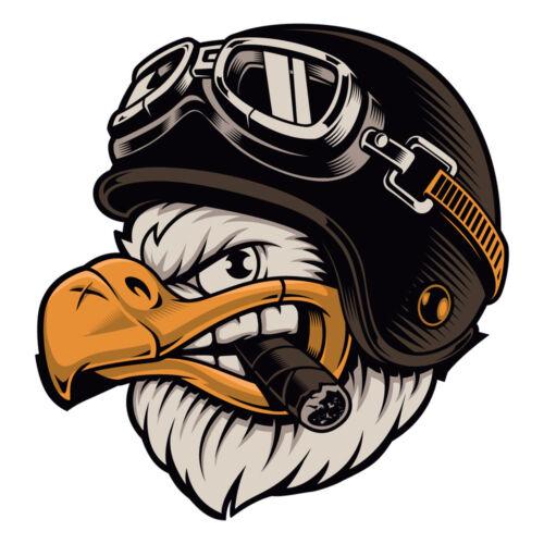 American Eagle Biker Helmet Sticker Motorcycle Cigar Vehicle Decal Car Truck