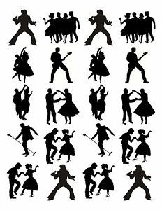 20-icing-cupcake-cake-toppers-decorations-edible-50-039-s-60-039-s-dancing-silhouettes