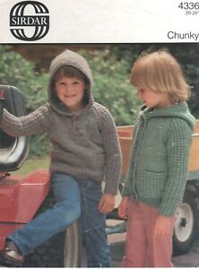 Sirdar-Knitting-Pattern-No-4336-Sweater-amp-Cardigan-in-Chunky-Size-20-30-in