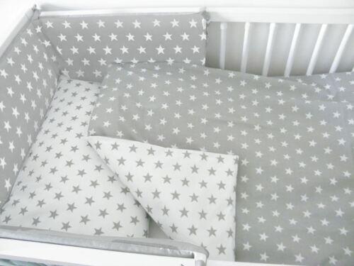 5-teiliges Baby Bettwäsche Set 120x60 140x70 cm mit Kinderbett Schutz
