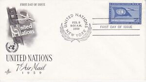 United-Nations-NY107-Enveloppe-1er-jour-1959-Aviation-Air-Mail-7c