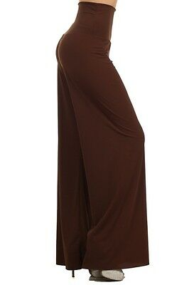 PALAZZO Pants Foldover/High Waist WIDE LEG SOLID COLOR S-L GP6028