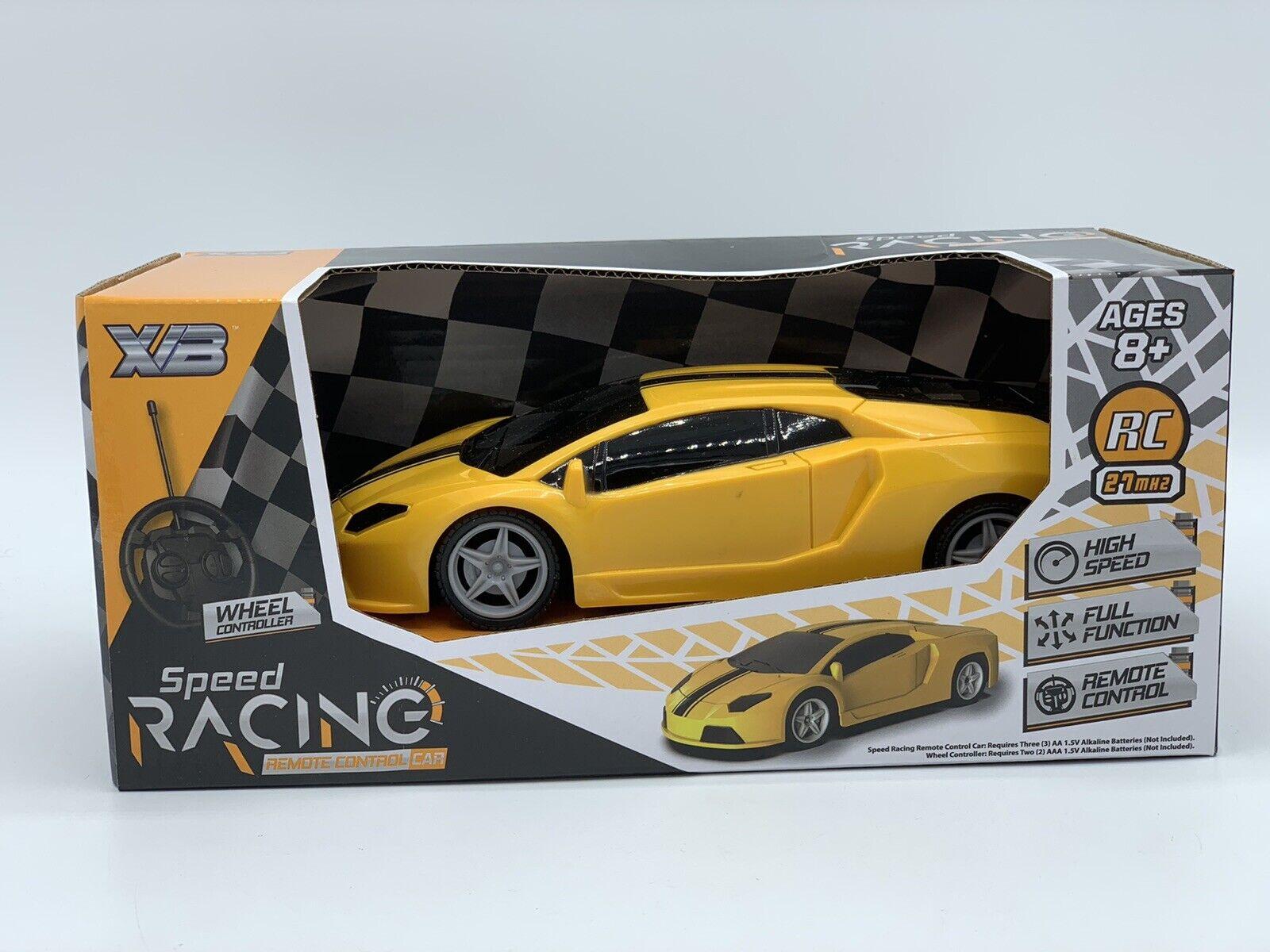 Sports R//C Car 1:24 Yellow Remote Control Sport Racing Car 27MHz High Speed