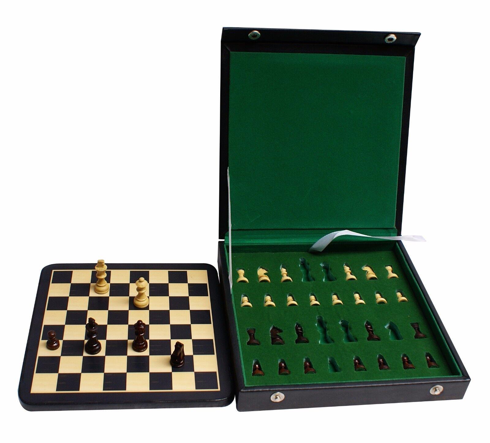 tienda de pescado para la venta Juego de ajedrez magnético viajes Caja de vinilo con con con 7  X 7  y 1.5  Juego de tablero de ajedrez  marca