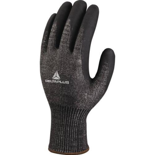 Delta Plus VECUT53 Safety Work Gloves Black High Performance Nitrile /& Anti-Cut