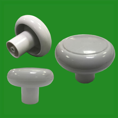 Drawer Furniture Door Handle Knobs Cupboard 4x 49mm White Plastic Cabinet