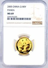 2005 China 100 Yuan 1/4 oz. .999 Fine Gold Panda Coin NGC Graded MS69 100Y
