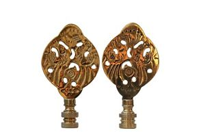Image Is Loading Chinoiserie Style Solid Brass Lamp Finials A Pair