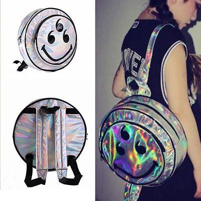 New Design Hologram Holographic Envelope Clutch Bag PU Silver Backpack New