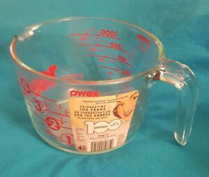 100th Anniversaire PYREX 4 tasses Rouge Tasse à Mesurer ~ NEUF avec étiquette! ~ 4 Dot ~-afficher le titre d`origine d6Jc2xzv-09164635-146816033