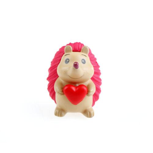 4Pcs Heart Hedgehog Resin Miniature Figurine Garden Decor Micro Landscape ÁÁ