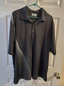 Ben-Hogan-Performance-2XL-Black-Gray-Polo-Mens-Golf-Shirt-Short-Sleeve-collared