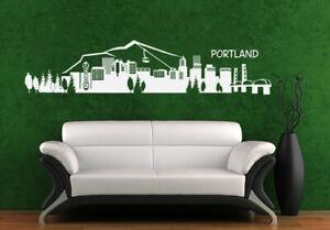 Wall-Vinyl-Sticker-Bedroom-Decal-Portland-Skyline-Town-City-Z1001