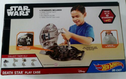 NIB Deluxe Star Wars Death Star Play Case 4 piece Starship Set by Hot Wheels