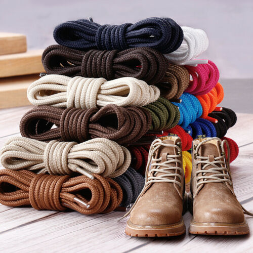 80-140cm Strong Round Boot Lace Walking Hiking Laces Bootlaces Sneaker Shoelaces